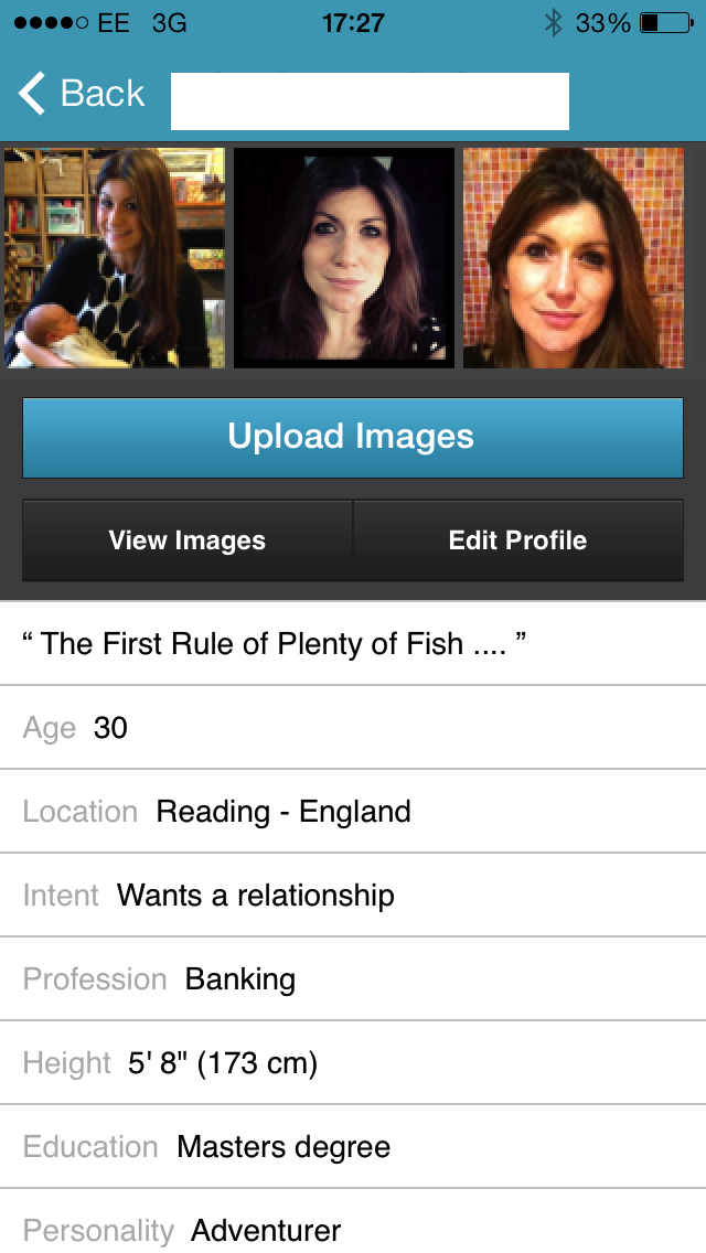 Dating website fish
