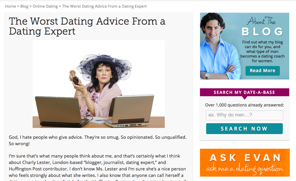 Dating expert london