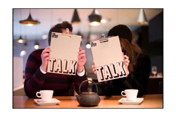 Conversation Menu in restaurant