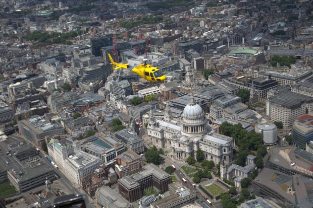 TLH_Yellow Heli over St Pauls